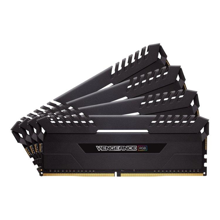 Corsair Vengeance RGB CMR32GX4M4C3466C16 Rtl DDR4, 4, 32Гб, PC4-27700, 3466МГц, DIMM
