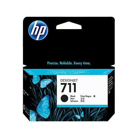 HP Inc. Cartridge HP 711 для HP Designjet T120.T520,черный, 38мл.