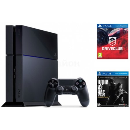 Sony PlayStation 4 DriveClub + TLOU Черный