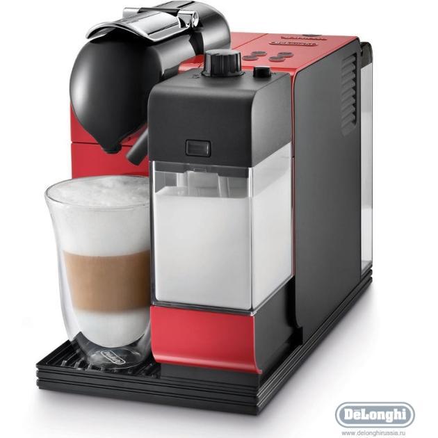 Delonghi Nespresso Latissima EN 521.R Красный, капсулы, 0.9л, 1300Вт