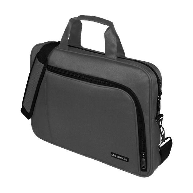 """Cross Case CC15-006 15.6"""", Черный, Синтетический Серый"""