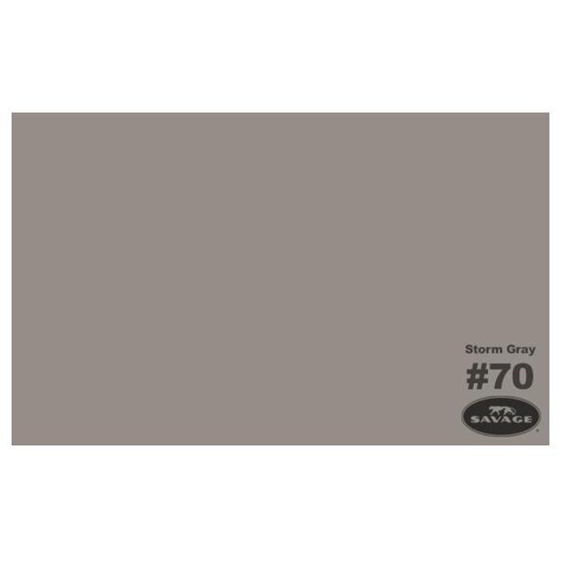"Фон бумажный Savage 70-1253 WIDETONE STORM GRAY цвет ""Серая Буря"" RGB 156-148-142, 1,35 х 11 метров"