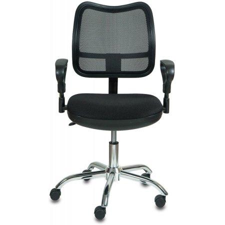 Кресло Бюрократ CH-799SL/TW-11 спинка сетка черный сиденье черный TW-11 крестовина хром