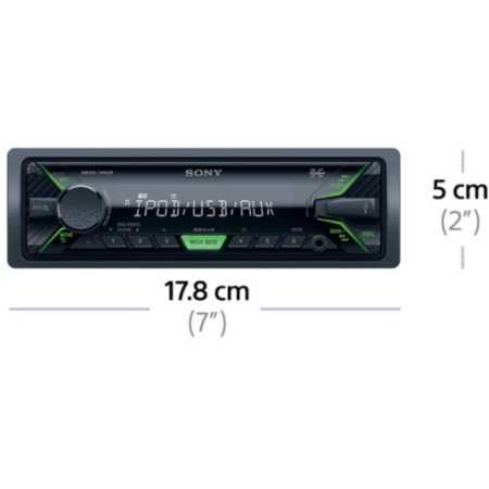 Sony DSX-A202UI 1 DIN, зелёная подсветка