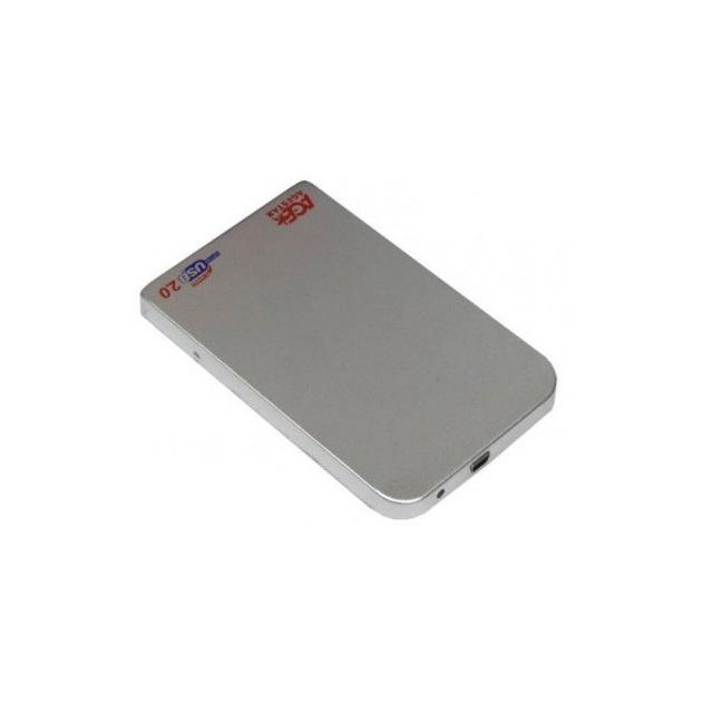 "Внешний корпус для HDD AgeStar 3UB2O1 SATA II алюминий серебристый 2.5"""