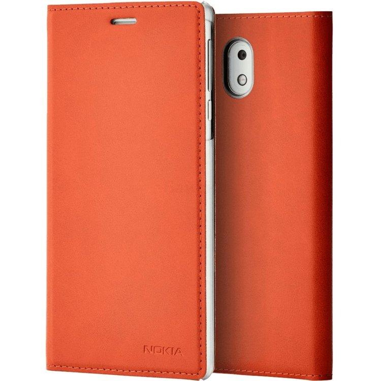 Чехол-книжка Nokia 3 Flip Cover Оранжевый