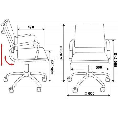 Кресло руководителя Бюрократ CH-993-Low/Brown низкая спинка коричневый искусственная кожа крестовина хромированная