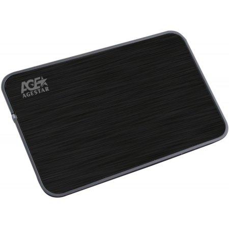 "Внешний корпус для HDD AgeStar 3UB2A8 SATA II пластик/алюминий черный 2.5"""