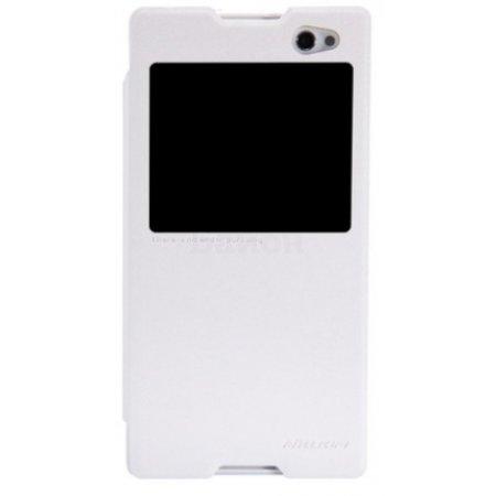 Nillkin Sparkle для Sony Xperia C3 чехол-книжка, кожа, Белый