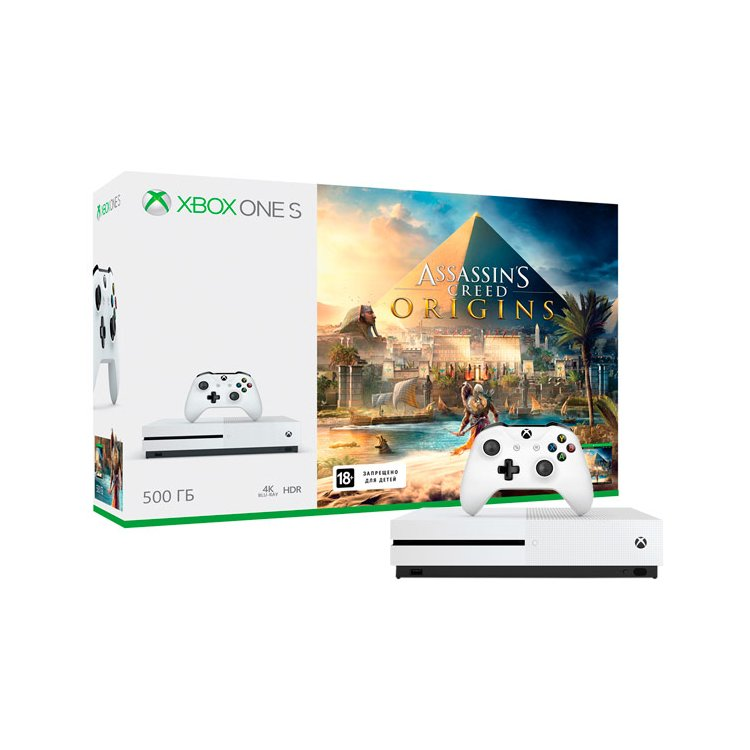 Xbox One S 500 Гб + Assassin's Creed Origins
