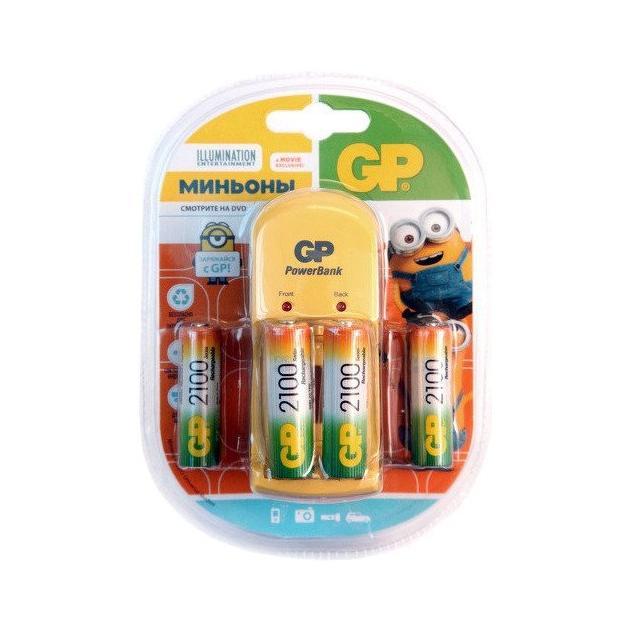 Аккумулятор + зарядное устройство GP PB350GS210 Minions AA NiMH 2100mAh (4шт.уп.)