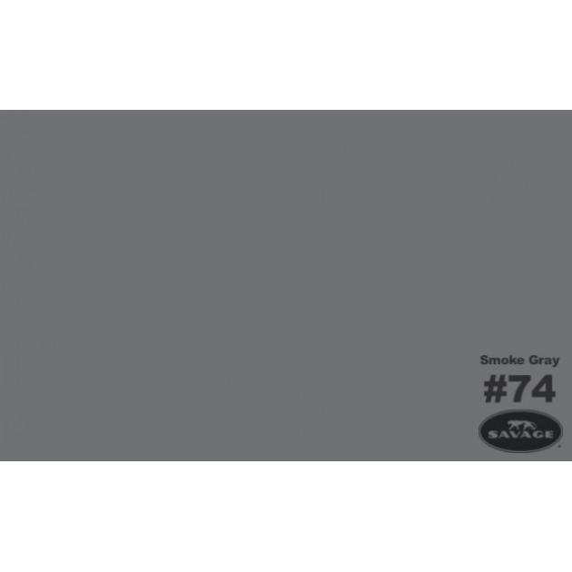 """Фон бумажный Savage 74-12 WIDETONE SMOKE GRAY цвет """"Серый Дым"""" RGB 112-113-117, 2,72 х 11 метров"""