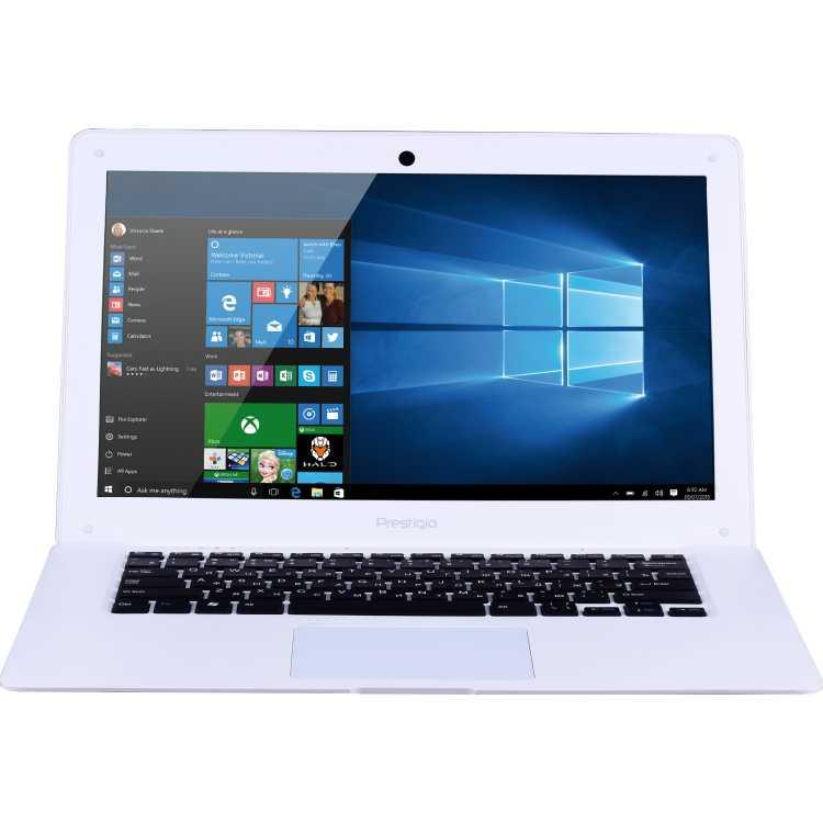 "Prestigio Smartbook 141A03 14.1"", Intel Atom, 1330МГц, 2Гб RAM, DVD нет, 32Гб, Белый, Wi-Fi, Windows 10, Bluetooth"