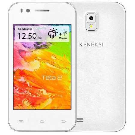 KENEKSI ТЕТА2 4Гб, Белый, Dual SIM, 3G