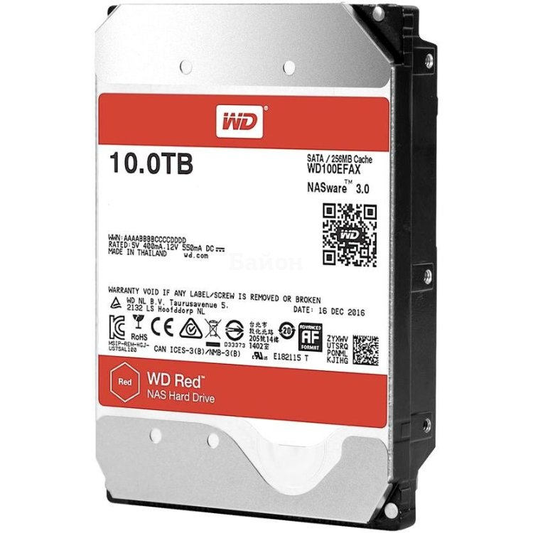 "Western Digital Red 10Tb 10000Гб, 600 Мб/с, 3.5"" HDD"
