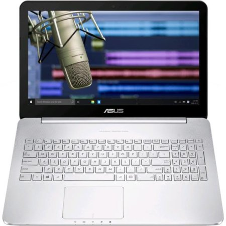 "Asus N752VX 17.3"", Intel Core i5, 2300МГц, 8Гб RAM, DVD-RW, 1Тб, Серебристый, Wi-Fi, Windows 10"