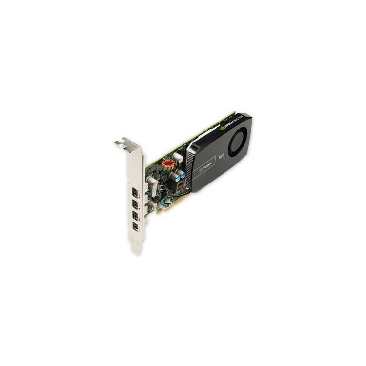 HP NVIDIA Quadro NVS 510 2048Мб, GDDR3, 4xMini DisplayPort-> DisplayPort