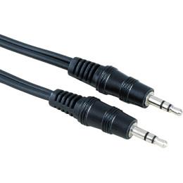 Кабель аудио Hama H-43330 Jack 3.5 (m)/Jack 3.5 (m) 1.5м. черный (00043330)