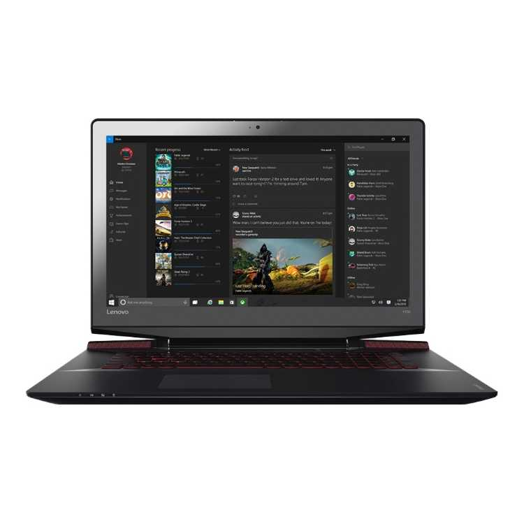 "Lenovo IdeaPad Y700 17.3"", Intel Core i7, 2600МГц, 8Гб RAM, DVD нет, 1Тб, Wi-Fi, Windows 10 Домашняя, Bluetooth"