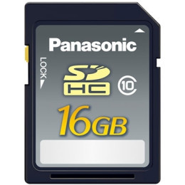 Panasonic SDHC 16GB 20MB/s, Class 10 RP-SDRB16GAK