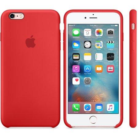 Apple Silicone Case для iPhone 6 Plus/6s Plus накладка, силикон, Красный