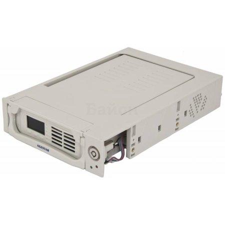 """Сменный бокс для HDD AgeStar TMR-SATA(K)-2F SATA пластик бежевый LCD 3.5"""""""