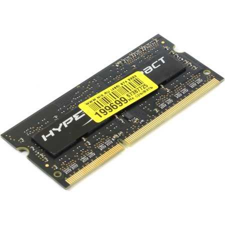Kingston HX316LS9IB/4 DDR3L, 4Гб, PC-12800, 1600, DIMM