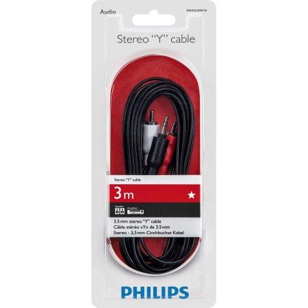 Стерео кабель Philips SWA2520W/10 Jack 3.5- 2 RCA,  3,0м