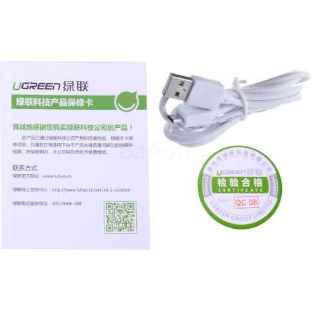 Ugreen HDMI-VGA + audio + micro USB 0.127м, Микро-USB, HDMI, 3.5 «мини-джек», Белый