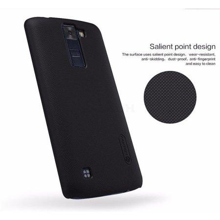 Nillkin Super Frosted Shield для LG K8 накладка, пластик, Черный