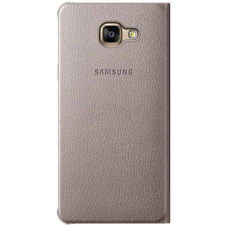 Samsung для Samsung Galaxy J7 2016 Flip Wallet EF-WJ710PFEGRU чехол-книжка, кожзам, Золотой