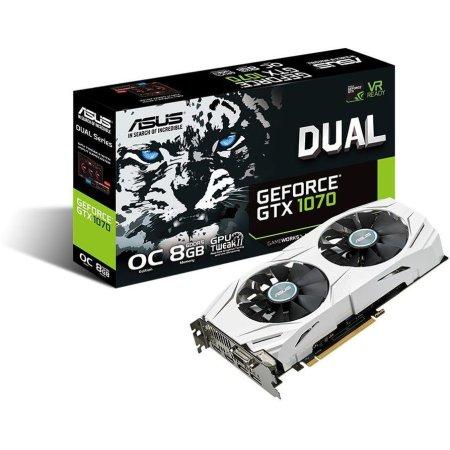 Asus NVIDIA GeForce GTX 1070 OC DUAL 8192Мб, GDDR5,1607MHz, DUAL-GTX1070-O8G GTX 1070 OC DUAL - 8192Мб, GDDR5,1607MHz, DUAL-GTX1070-O8G