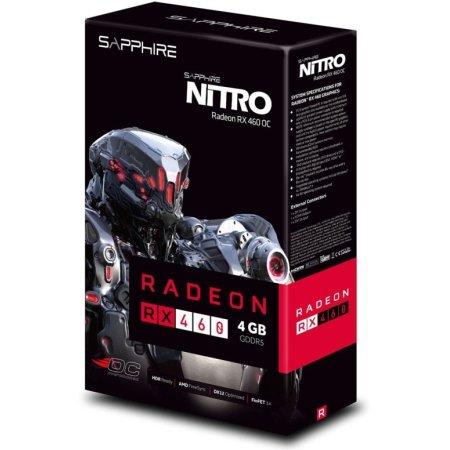 Sapphire PCI-E 11257-00-20G NITRO RX 460, PCI-E 16x 3.0, 2048Мб, GDDR5
