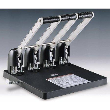 Дырокол Kw-Trio Heavy Duty 954 макс.:150лист. металл/пластик черный отв.:4 с линейкой