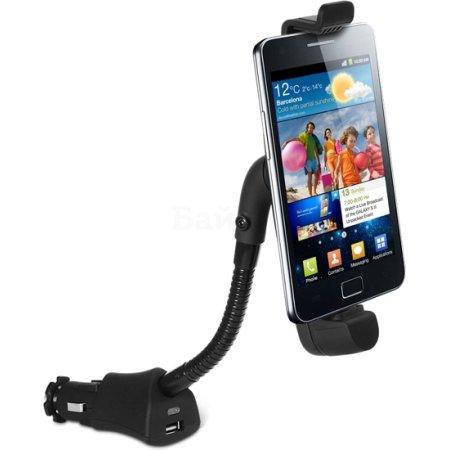 """DF c зарядным устройством для micro USB и USB, в прикуриватель Черный, 5.5"""""""