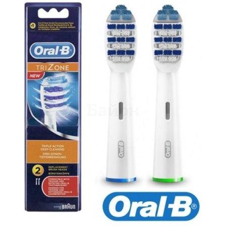 Насадка для зубных щеток Oral-B Trizone EB30 (упак.:2шт) подходит для всех электрических зубных щеток Oral-B кроме Sonic/Pulsonic