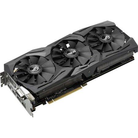 Asus NVIDIA GeForce GTX 1080 STRIX GAMING 8192Мб, GDDR5,1607MHz, STRIX-GTX1080-8G-GAMING GTX 1080 STRIX GAMING - 8192Мб, GDDR5,1607MHz,
