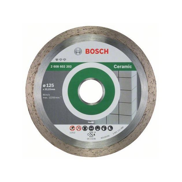 Алмазный диск по керамике Bosch Standard for Ceramic (2608602202) d=125мм d(посад.)=22.23мм (угловые шлифмашины) от Байон