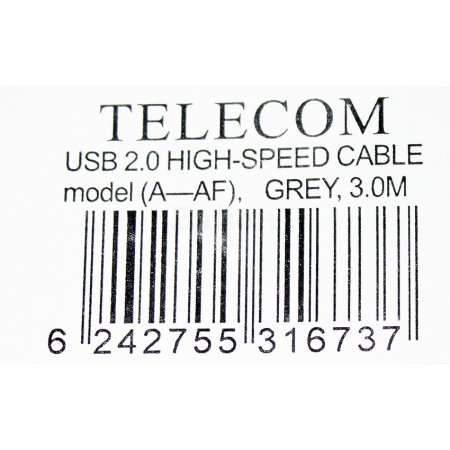 Telecom TC6936-3MO-GY 3м, USB-A, Серый