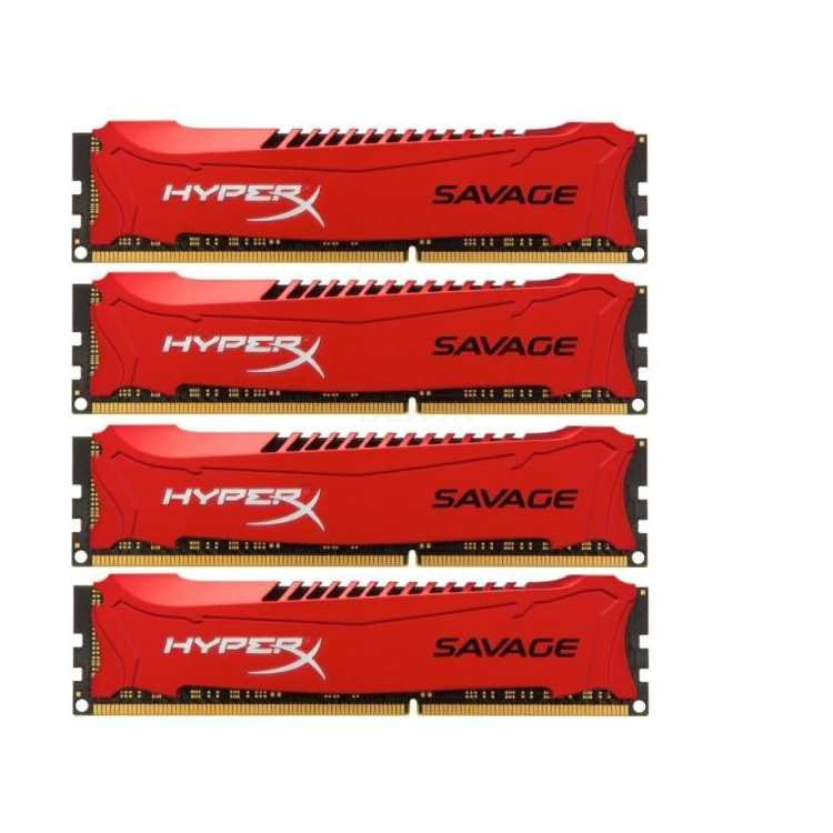 Kingston HyperX Savage HX321C11SRK432 DDR3, 32Гб, PC-17000, 2133МГц, DIMM