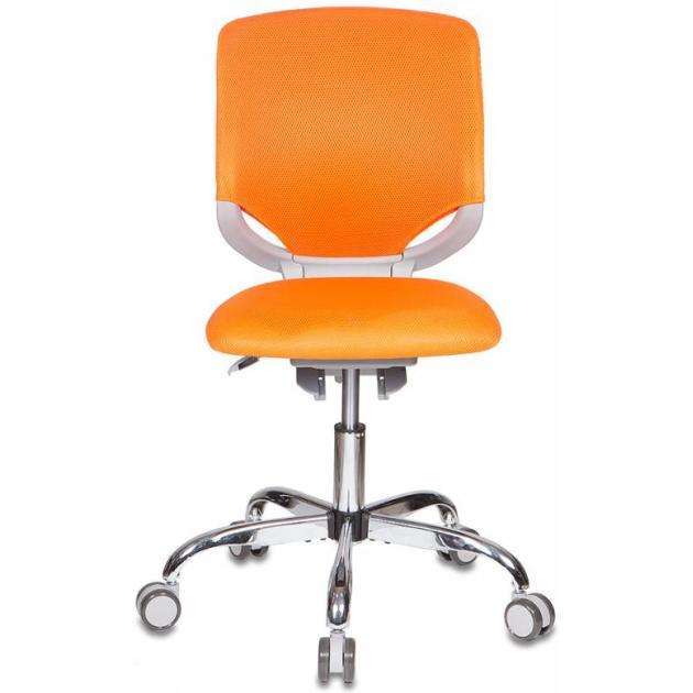 Кресло детское Бюрократ KD-7/TW-96-1 оранжевый TW-96-1 крестовина хром колеса серый пластик серый