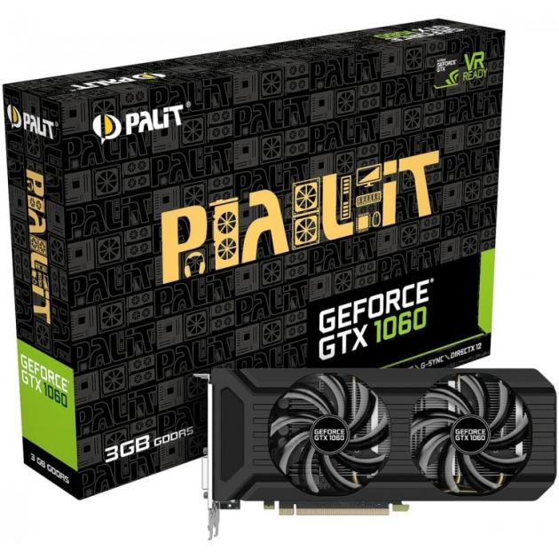 Palit GeForce GTX 1060 PCI-E 16x 3.0, 3072Мб, GDDR5 NE51060015F9-1061D
