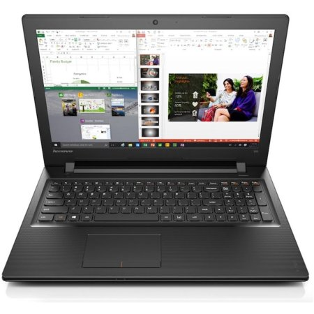 "Lenovo IdeaPad 300-15IBR 80M30001RK 15.6"", Intel Celeron, 1600МГц, 2Гб RAM, DVD-RW, 500Гб, Черный, Wi-Fi, DOS, Bluetooth"