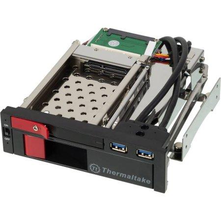 "Сменный бокс для HDD Thermaltake Max5 Duo ST0026Z SATA III пластик/сталь черный 2.5"" 3.5"""