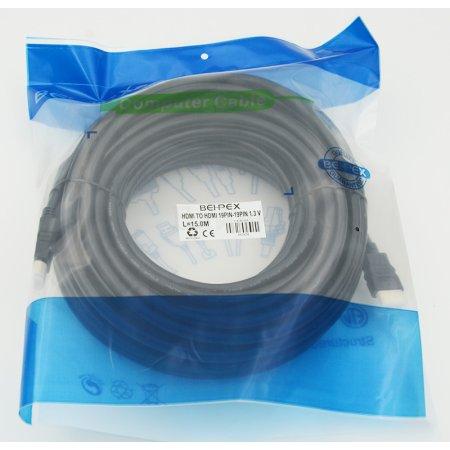 Кабель аудио-видео HDMI m/HDMI m 15м. феррит.кольца