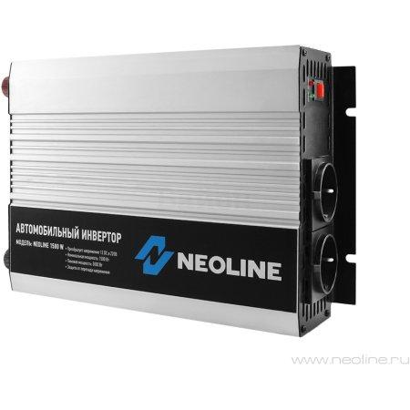 Автомобильный инвертор Neoline 1500W 3000Вт, кабель (к аккумулятору) 3000Вт, кабель (к аккумулятору)