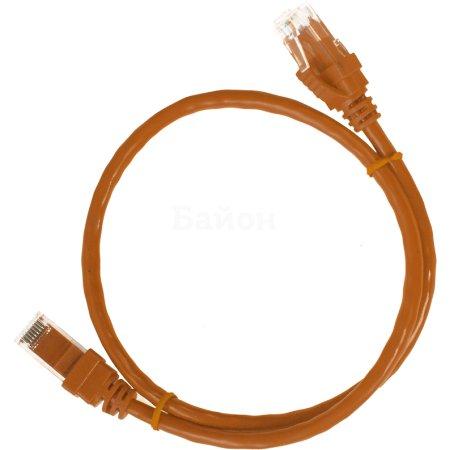 IEK ITK Коммутационный шнур (патч-корд), кат.5Е UTP, 1м, оранжевый