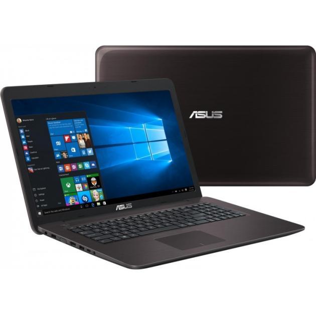 "Asus X756UQ 17.3"", Intel Core i5, 2300МГц, 4Гб RAM, DVD-RW, 500Гб, Коричневый, Wi-Fi, Windows 10, Bluetooth"