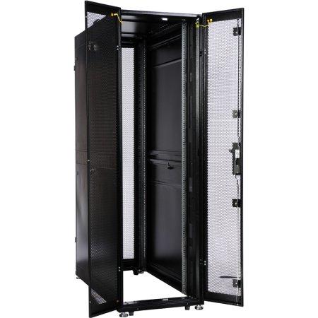 ЦМО Шкаф серверный ПРОФ напольный 42U (600x1000) дверь перфорированная 2 шт., цвет черный, в сборе, [ ШТК-СП-42.6.10-44АА-9005 ]