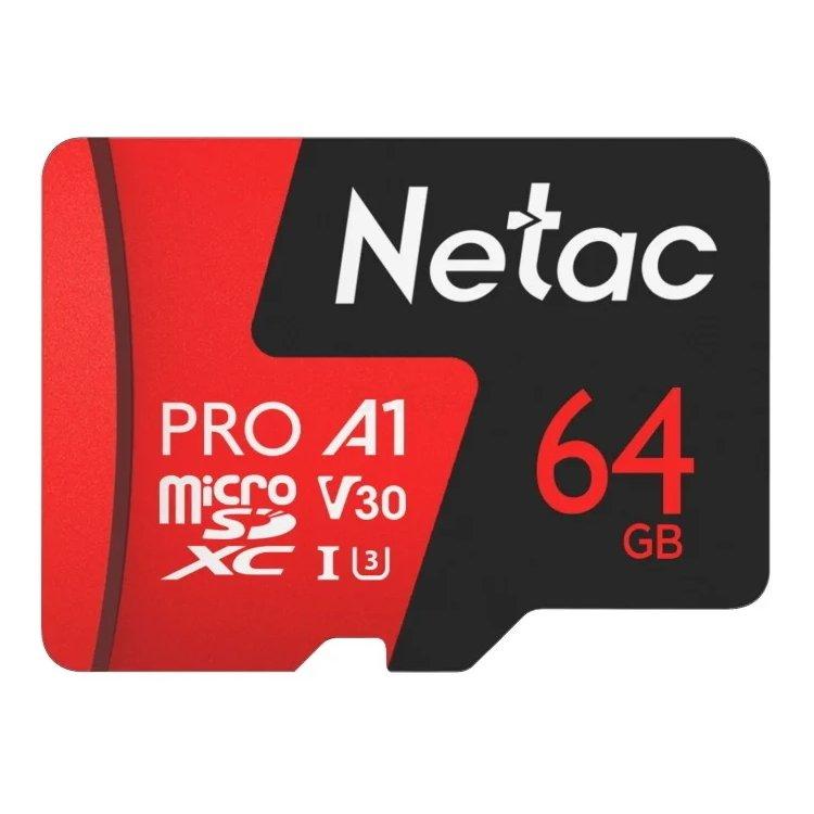 Netac MicroSDHC Memory Card P500 Extreme Pro 64GB w/ad